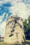 Old tower windmill in Holic, Slovakia, retro photo filter Stock Image