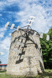 Old tower windmill in Holic, Slovakia, vertical composition Stock Photography
