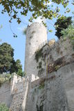 Old towers. Architecture of ancient castle tower of eboli visited by many tourists Stock Photography