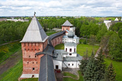 Old towers of Novgorod Kremlin Royalty Free Stock Images