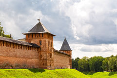 Old towers of Novgorod Kremlin, Russia Stock Photography