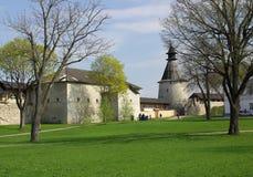 Old towers in Pskov Stock Image