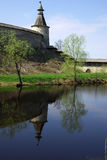 Old towers in Pskov Royalty Free Stock Photos