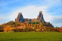 Trosky castle stock image