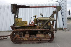 An old towing machine on display at whitehorse. Royalty Free Stock Images
