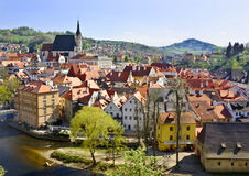 Old town (�eský Krumlov) Royalty Free Stock Photography