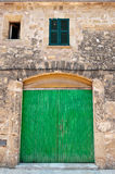 Old town. Old building details in the old town of Alcudia Stock Photography