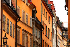 Old town. The old city in stockholm Royalty Free Stock Photos