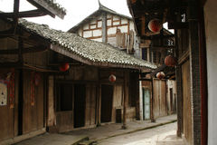 A old town. Quiet alley of a old town royalty free stock image