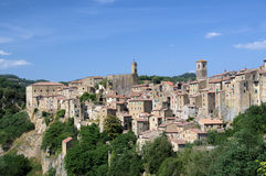 The old town. The historical town in the Tuscany Royalty Free Stock Photography