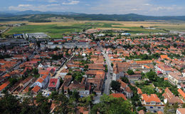 Old town. Aerial view of old city of Rasnov, Brasov, Romania Royalty Free Stock Photos