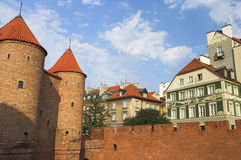 Old Town. Defensive walls surrounding Old Town in Warsaw, Poland Stock Photos