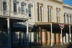 Old Town. Early morning in restored historic section of Old Town Sacramento, California Royalty Free Stock Photo