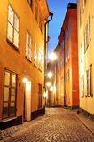 The Old Town. Street in the Old Town of Stockholm Stock Image
