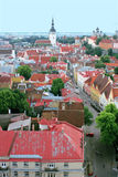 Old town. Panorama of the old city, Tallinn Royalty Free Stock Image