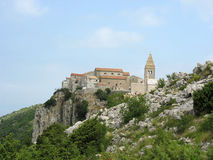 Old town. Lubenice-old town on a cliff,Croatia royalty free stock photo