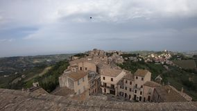 Old town of Acquaviva Picena, Marche region, Italy, time-lapse view stock footage