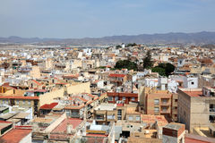 Old town of Aguilas, Murcia, Spain. View over the old town of Aguilas, province of Murcia, Spain Stock Images