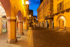 Old town of Alba at evening. Royalty Free Stock Images