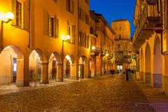 Old town of Alba in evening. Stock Photos