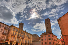 Old town of Alba, Italy. Stock Images