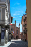 Old town of Alba, Italy Stock Images