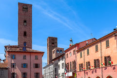 Old town of Alba, Italy. Royalty Free Stock Image
