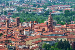 Old town of Alba, Italy. stock photography