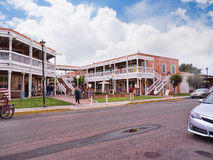 Old Town of Albuqueque with its many galleries in New Mexico USA. Shopping street in Albuquerque in New Mexico Stock Image