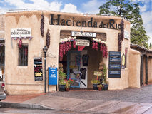 Old Town of Albuqueque with its many galleries in New Mexico USA. Shopping street in Albuquerque in New Mexico Royalty Free Stock Image