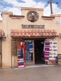Old Town of Albuqueque with its many galleries in New Mexico USA. Shopping street with mexican decorations in Albuquerque in New Mexico Royalty Free Stock Photos