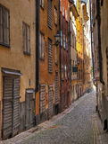 Old Town Alley. Alley in the Old Town of Stockholm stock images