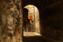 Old town alley in Tuscany Royalty Free Stock Image