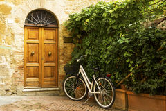 Old town alley in Tuscany Stock Photography