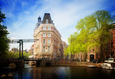Old town of  Amsterdam Royalty Free Stock Photos