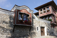 Old town. Ancient Plovdiv Architectural Reserve is a well-preserved complex where on a relatively small area visitors can take walks through different historical Stock Photography