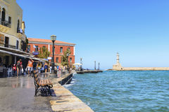 Free Old Town And Lighthouse In Chania Stock Photography - 34793592