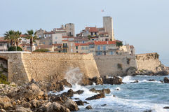 Old Town of Antibes, Cote d'Azur, France royalty free stock photography