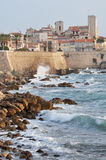 Old Town of Antibes, Cote d'Azur, France. Antibes is a beautiful walled coastal town in the Alpes-Maritimes department of southeastern France. Located between Royalty Free Stock Photos