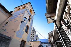 Old town of Aosta, Valle d`aosta, Italy Royalty Free Stock Photo