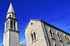 Old town architecture of Budva, Montenegro on Adriatic coast Royalty Free Stock Images