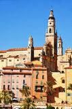 Old town architecture of Menton on French Riviera Royalty Free Stock Photos