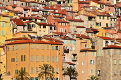 Old town architecture of Menton on French Riviera Stock Image