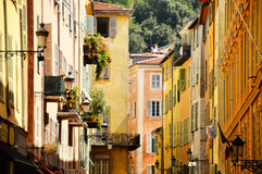 Old town architecture of Nice on French Riviera Stock Image