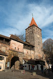 Old Town architecture in Nuremberg Stock Photos