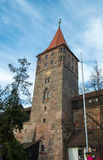 Old Town architecture in Nuremberg Royalty Free Stock Photo