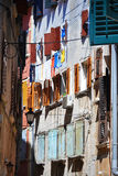 Old town architecture of Rovinj Stock Image