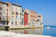 Old town architecture of Rovinj, Croatia. Istria touristic attra Royalty Free Stock Photography