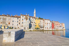 Old town architecture of Rovinj, Croatia. Istria touristic attra Royalty Free Stock Image