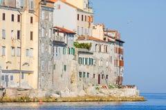 Old town architecture of Rovinj, Croatia. Istria touristic attra Stock Photos